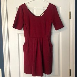 Burgundy Quilted Dress
